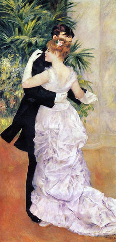 Pierre Auguste Renoir A City Dance - Hand Painted Oil Painting