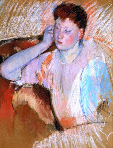 Mary Cassatt Clarissa, Turned Left, with Her Hand to Her Ear - Hand Painted Oil Painting