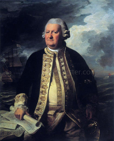 John Singleton Copley Clark Gayton, Admiral of the White - Hand Painted Oil Painting