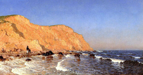 Sanford Robinson Gifford Clay Bluffs on No Man's Land - Hand Painted Oil Painting