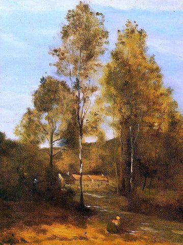 Jean-Baptiste-Camille Corot Clearing in the Bois Pierre, near at Eveaux near Chateau Thiery - Hand Painted Oil Painting