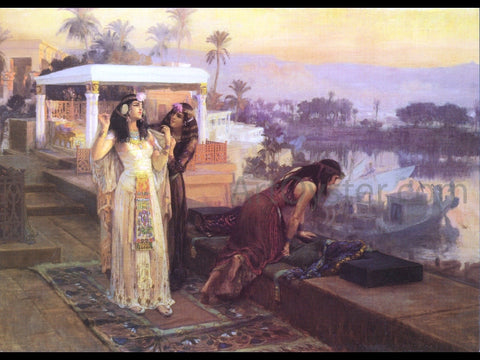 Frederick Arthur Bridgman Cleopatra on the Terraces of Philae - Hand Painted Oil Painting