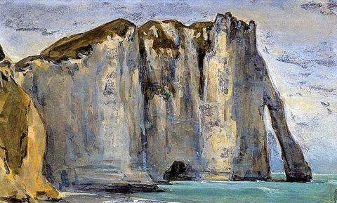 Eugene Delacroix Cliff at Etretat - Hand Painted Oil Painting