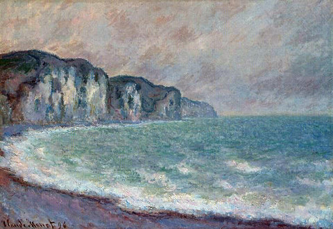 Claude Oscar Monet Cliff at Pourville - Hand Painted Oil Painting