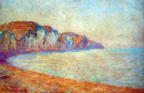 Claude Oscar Monet Cliff at Pourville in the Morning - Hand Painted Oil Painting