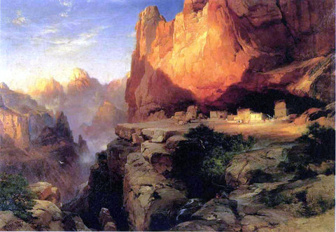 Thomas Moran Cliff Dwellers - Hand Painted Oil Painting