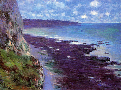 Claude Oscar Monet A Cliff near Dieppe - Hand Painted Oil Painting