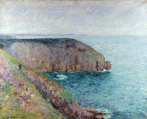 Gustave Loiseau Cliffs at Cape Frehel - Hand Painted Oil Painting