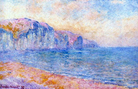 Claude Oscar Monet Cliffs at Pourville, Morning - Hand Painted Oil Painting