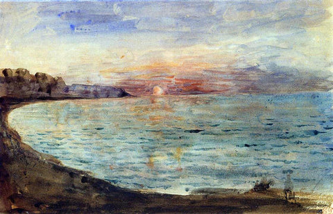 Eugene Delacroix Cliffs near Dieppe - Hand Painted Oil Painting