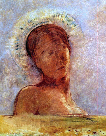 Odilon Redon Closed Eyes - Hand Painted Oil Painting