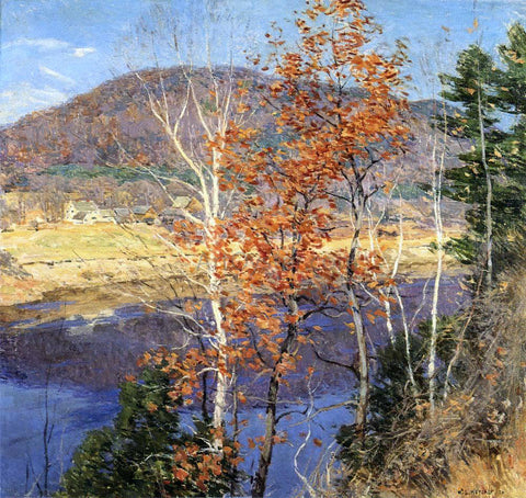 Willard Leroy Metcalf Closing Autumn - Hand Painted Oil Painting