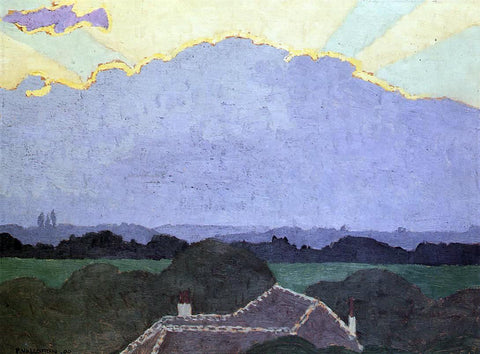 Felix Vallotton Cloud at Romanel - Hand Painted Oil Painting