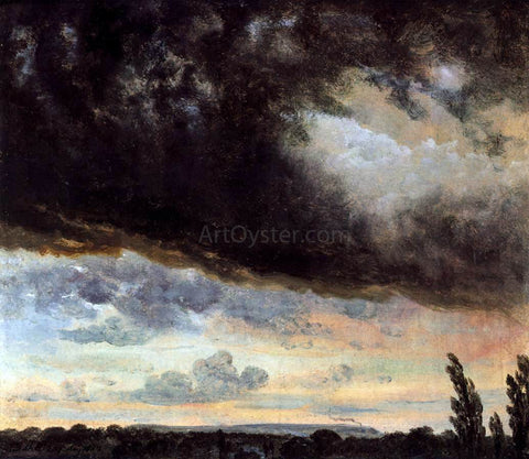 Johan Christian Claussen Dahl Cloud Study with Horizon - Hand Painted Oil Painting