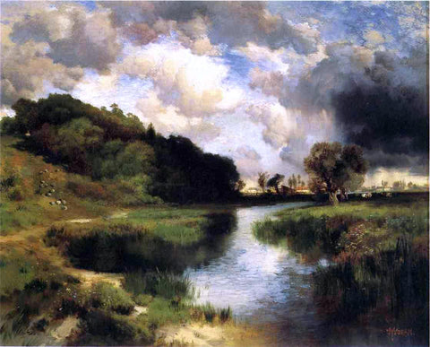 Thomas Moran Cloudy Day at Amagansett - Hand Painted Oil Painting