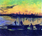 Vincent Van Gogh Coal Barges - Hand Painted Oil Painting