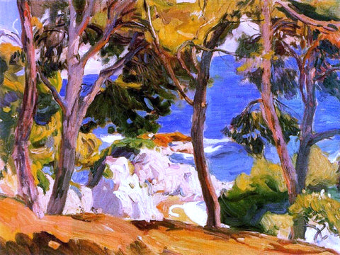 Joaquin Sorolla Y Bastida Coast at Santa Cristina - Hand Painted Oil Painting