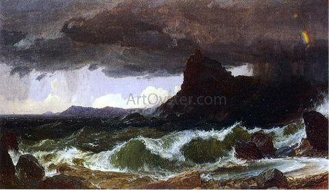 Jasper Francis Cropsey Coast of Dorset - Hand Painted Oil Painting