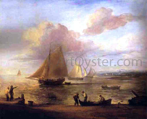Thomas Gainsborough Coastal Scene - a Calm - Hand Painted Oil Painting
