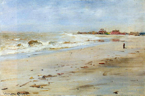 William Merritt Chase Coastal View - Hand Painted Oil Painting