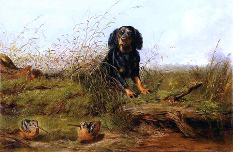 Arthur Fitzwilliam Tait Cocker Spaniel and Woodcock - Hand Painted Oil Painting