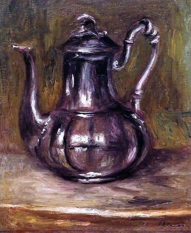 Pierre Auguste Renoir Coffee Pot - Hand Painted Oil Painting