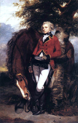 Sir Joshua Reynolds Colonel George K. H. Coussmaker, Grenadier Guards - Hand Painted Oil Painting