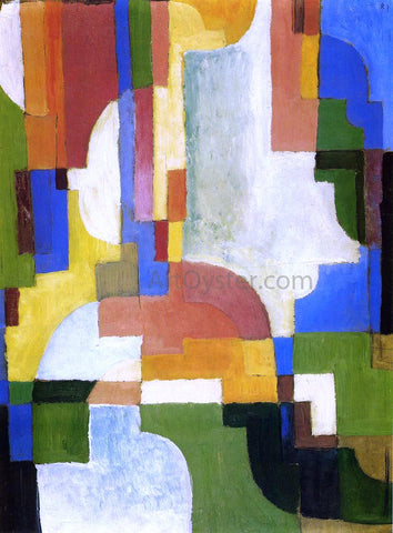 August Macke Colored Forms I - Hand Painted Oil Painting
