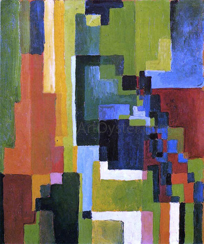 August Macke Colored Forms II - Hand Painted Oil Painting