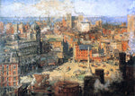 Colin Campbell Cooper Columbus Circle - Hand Painted Oil Painting