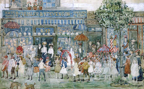Maurice Prendergast Columbus Circle (New York) - Hand Painted Oil Painting