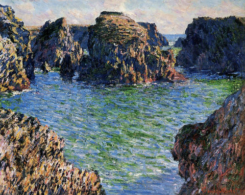 Claude Oscar Monet Coming into Port-Goulphar, Belle-Ile - Hand Painted Oil Painting