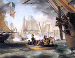 "Thomas Birch Commodore Perry Leaving the ""Lawrence"" for the ""Niagara: at the Battle of Lake Erie"" - Hand Painted Oil Painting"