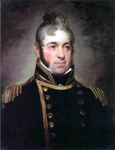 Gilbert Stuart Commodore William Bainbridge, Commander of The Constitution (1774-1833) - Hand Painted Oil Painting