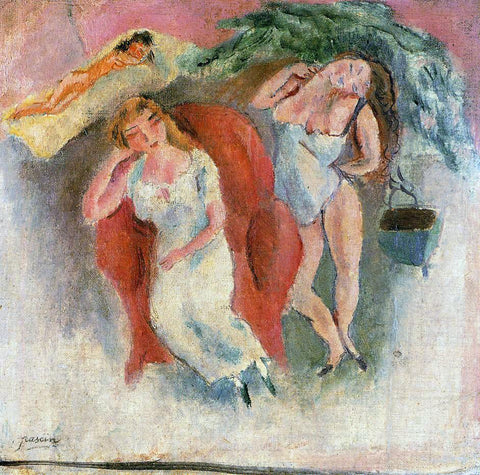 Jules Pascin Composition with Three Women - Hand Painted Oil Painting