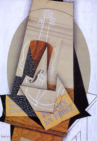 Juan Gris Composition with Violin - Hand Painted Oil Painting