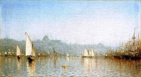 Sanford Robinson Gifford Constantinople, from the Golden Horn - Hand Painted Oil Painting