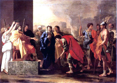 Nicolas Poussin Continence of Scipio - Hand Painted Oil Painting