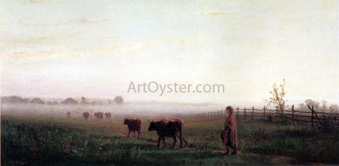 Junius R Sloan Cool Morning on the Prarie - Hand Painted Oil Painting