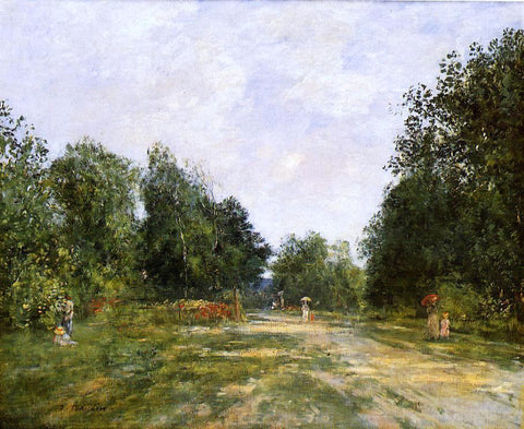 Eugene-Louis Boudin Cordier Park, Trouville - Hand Painted Oil Painting