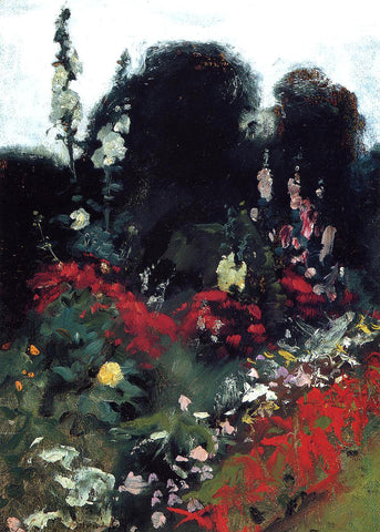 John Singer Sargent Corner of a Garden - Hand Painted Oil Painting
