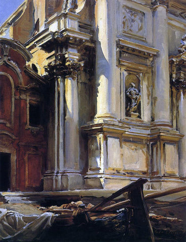 John Singer Sargent Corner of the Church of St. Stae, Venice - Hand Painted Oil Painting
