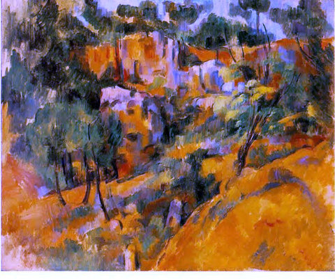 Paul Cezanne Corner of the Quarry - Hand Painted Oil Painting