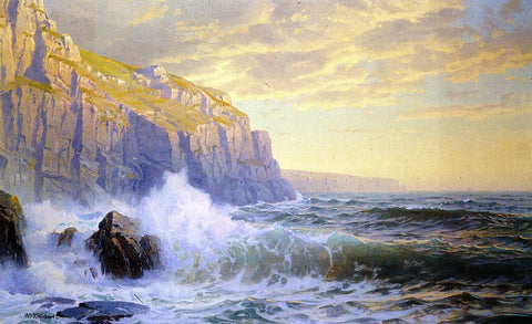 William Trost Richards Cornish Headlands - Hand Painted Oil Painting