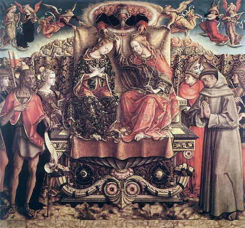 Carlo Crivelli Coronation of the Virgin - Hand Painted Oil Painting
