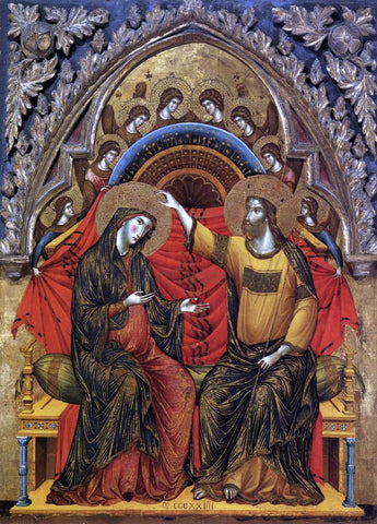 Paolo Veneziano Coronation of the Virgin - Hand Painted Oil Painting