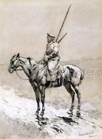 Frederic Remington Cossack Picket on the German Frontier - Hand Painted Oil Painting