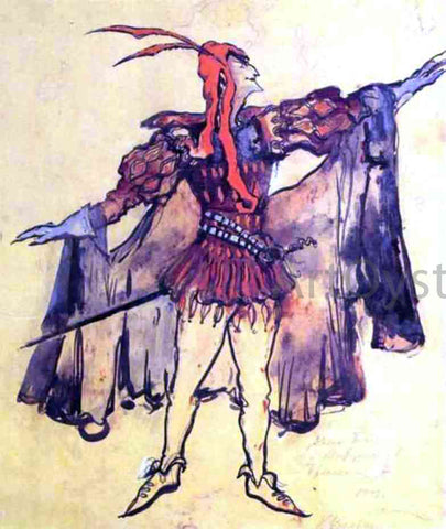 Constantin Alexeevich Korovin Costume Design for Arrigo Boito's Opera Faust - Hand Painted Oil Painting