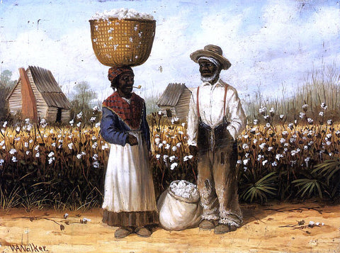 William Aiken Walker Cotton Pickers - Hand Painted Oil Painting