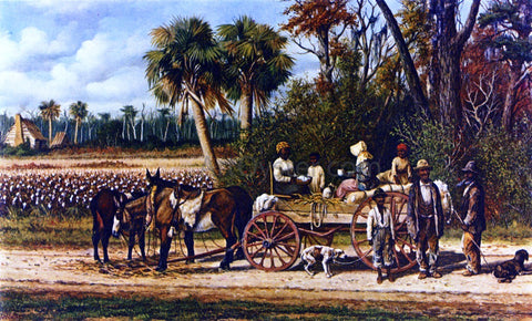 William Aiken Walker Cotton Wagon's Empty - Hand Painted Oil Painting